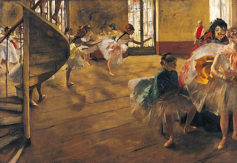 Ballet Rehearsal on Stage, 1974 by Edgar Degas