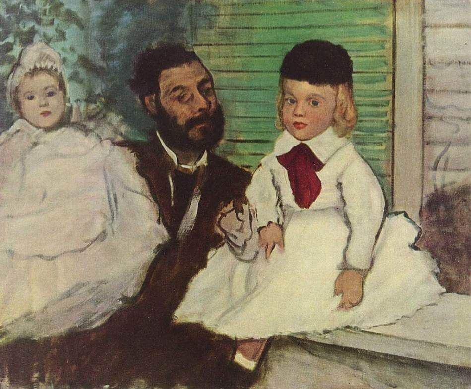 Count Lepic and His Daughters, 1871 by Edgar Degas