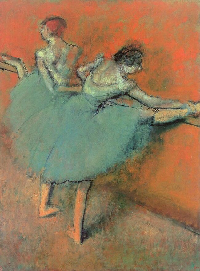 Dancers at the Barre, 1880-1900 by Edgar Degas