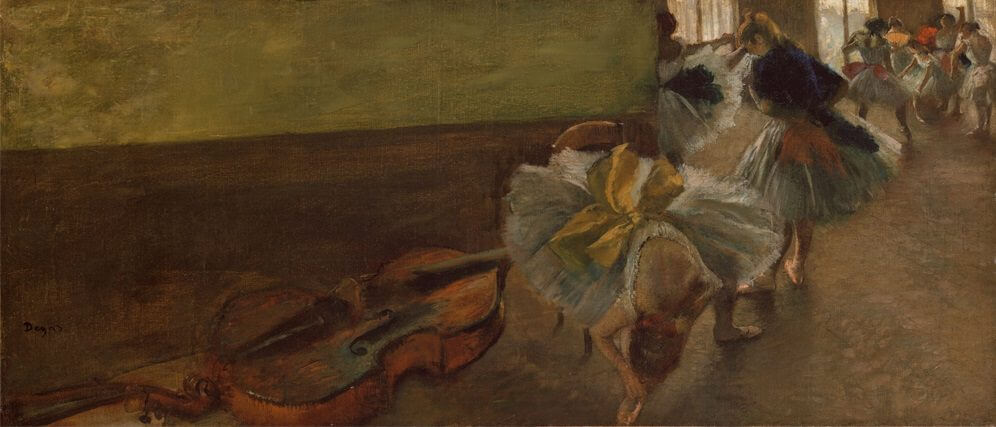Dancers in the Rehearsal Room, 1889 by Edgar Degas
