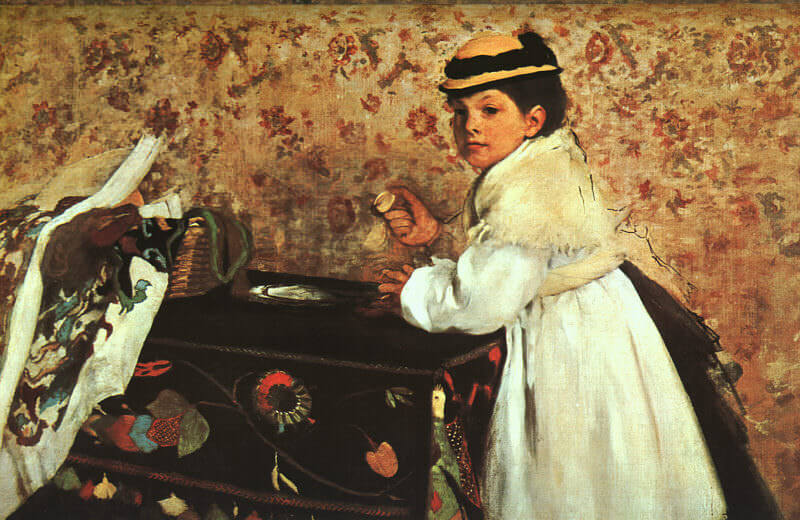 Hortense Valpincon as a Child, 1869 by Edgar Degas