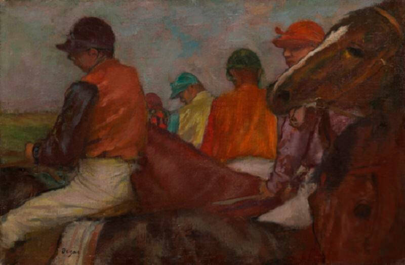 Jockeys, 1881 by Edgar Degas