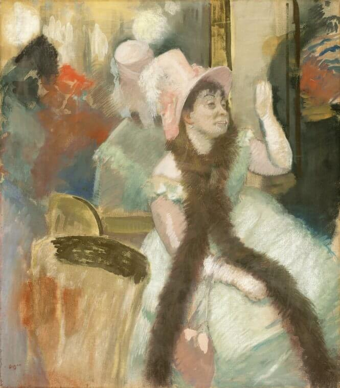 Portrait after a costume ball 1877 by edgar degas for In their paintings the impressionists often focused on