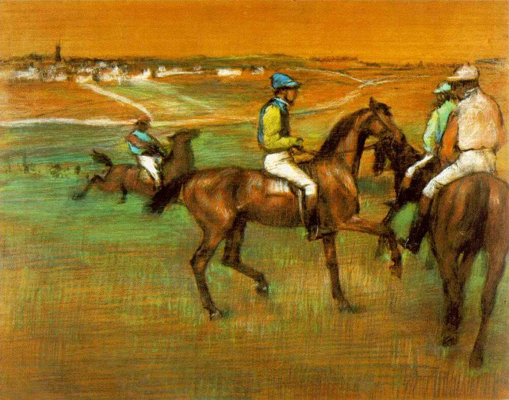 Race Horses, 1885-88 by Edgar Degas