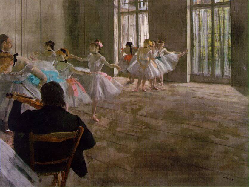 Rehearsal in the Studio, 1878 by Edgar Degas