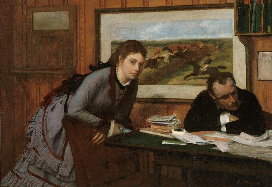 Sulking, by Edgar Degas