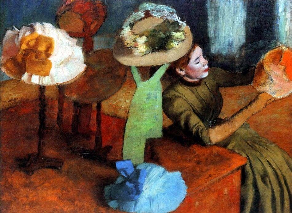 The Millinery Shop, 1884-90 by Edgar Degas