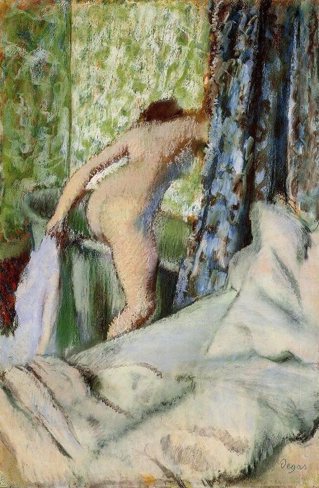 The Morning Bath, 1890 by Edgar Degas