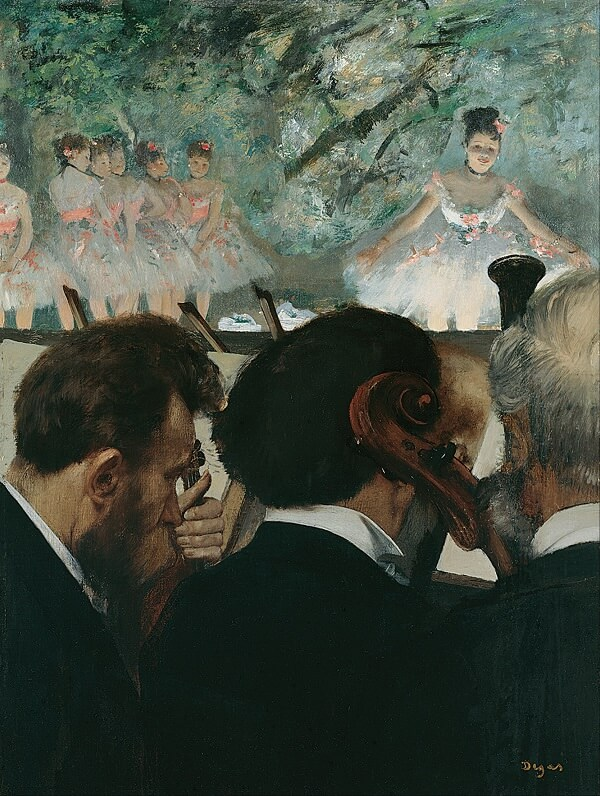 The Orchestra at the Opera, 1870 by Edgar Degas