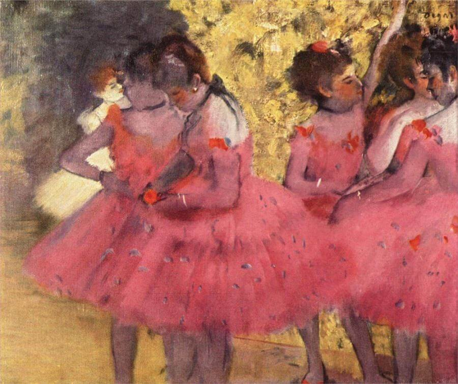 The Pink Dancers before the Ballet, 1884 by Edgar Degas