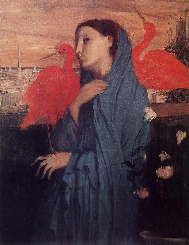 Young Woman with Ibis, 1860 by Edgar Degas